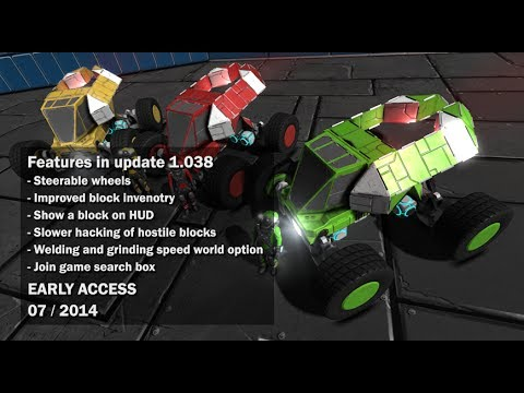 Space Engineers - Steering wheels, wheel controls