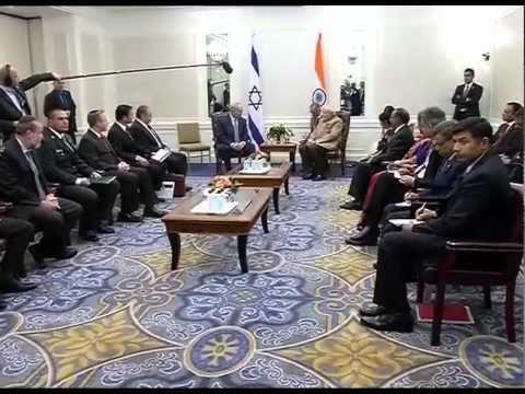 Pm Modi Meets Israeli Pm Benyamin Netanyahu In New York video