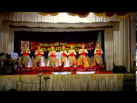 Kerala School Kalolsavam 2013[group Dance] Aiswarya Raja & Team video