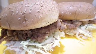 zinger burger || By Fusion Food Secrets || chicken zinger burger