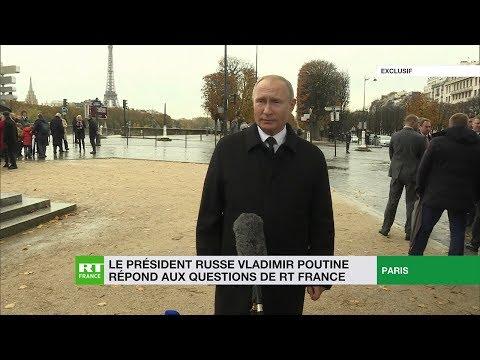 Vladimir Poutine répond en exclusivité aux questions de RT France