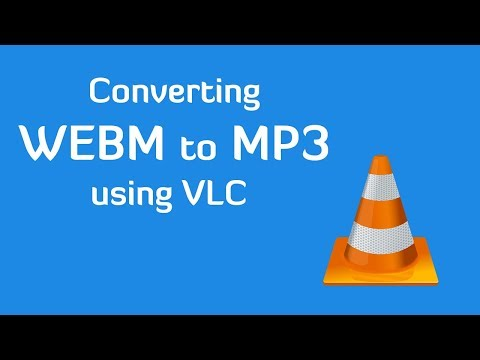 Convert webm to mp3 using VLC