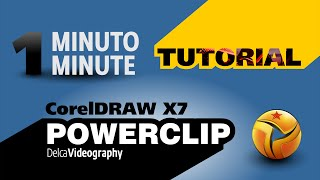 (1 MINUTO) TUTORIAL 1 Corel DRAW X7: POWERCLIP (with Closed Caption)