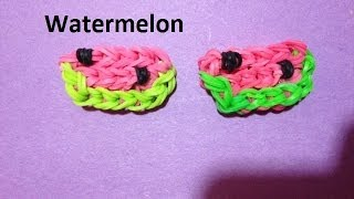 How to Make a Watermelon Charm on the Rainbow Loom - Original Design