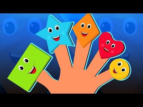 formas dedo família | rimas infantis | vídeo educativo | compilação | Shapes Finger Family for kids
