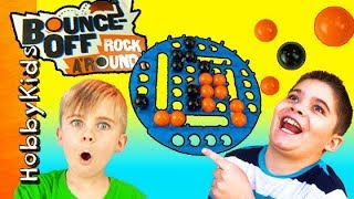 Bounce Off Game ROCK AROUND! Balls Slide + Tilt and Turn HobbyFamily Fun Game Time HobbyKidsTV