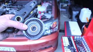 Idler Pulley Removal and Replacement - (aka tensioner pulley) Subaru Legacy GT and WRX