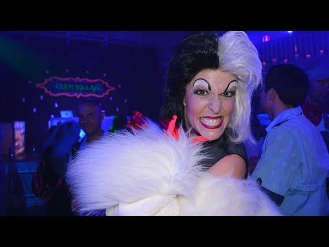 NEW Club Villain at Mickey's Not So Scary Halloween Party w/ Cruella De Vil, Dr Facilier, Drizella