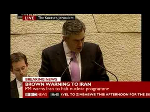 Brown Israel speech 2