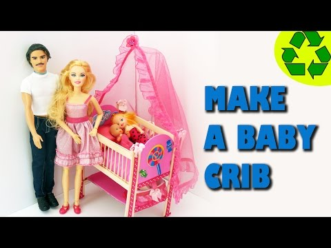 How to make a doll crib - Crafts for dolls - simplekidscrafts
