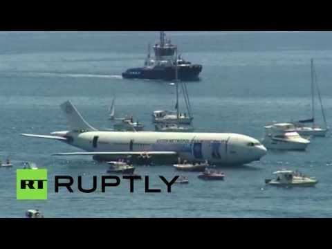 Turkey sinks old Airbus jet to create artificial reef to keep diving tourism afloat