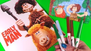How to Draw and Colour DUG, HOG NOB from EARLY MAN - Aardman #earlyman @earlyman