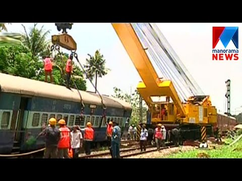 Train schedule badly affect due to train derailed   Manorama News