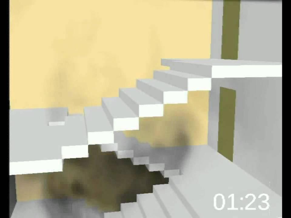 Inuri feu dans la cage d escalier youtube for Tapisser cage d escalier