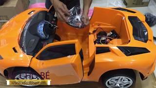 Xe ô tô điện trẻ em 2 chỗ ngồi Lamborghini 998 (Xe cho bé)