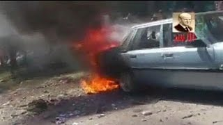 [Graphic footage] Syria: twin car bombings kill 22 people, including 10 children - no comment