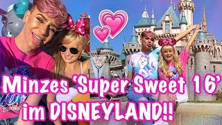 'SUPER SWEET 16' im DISNEYLAND! Happy Birthday Minze!! ♡  LA Vlog | Marvyn Macnificent