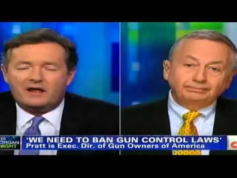 Piers Morgan Resorts To Name Calling After Losing Gun Control Debate!!! thumbnail
