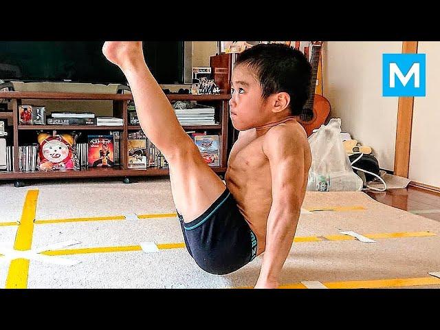 SUPER KID or Baby Bruce Lee? - Ryusei Imai  Muscle Madness