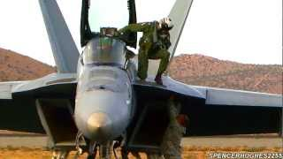 2012 Reno Air Races - FA-18 Super Hornet Arrival & Engine Shut-Down