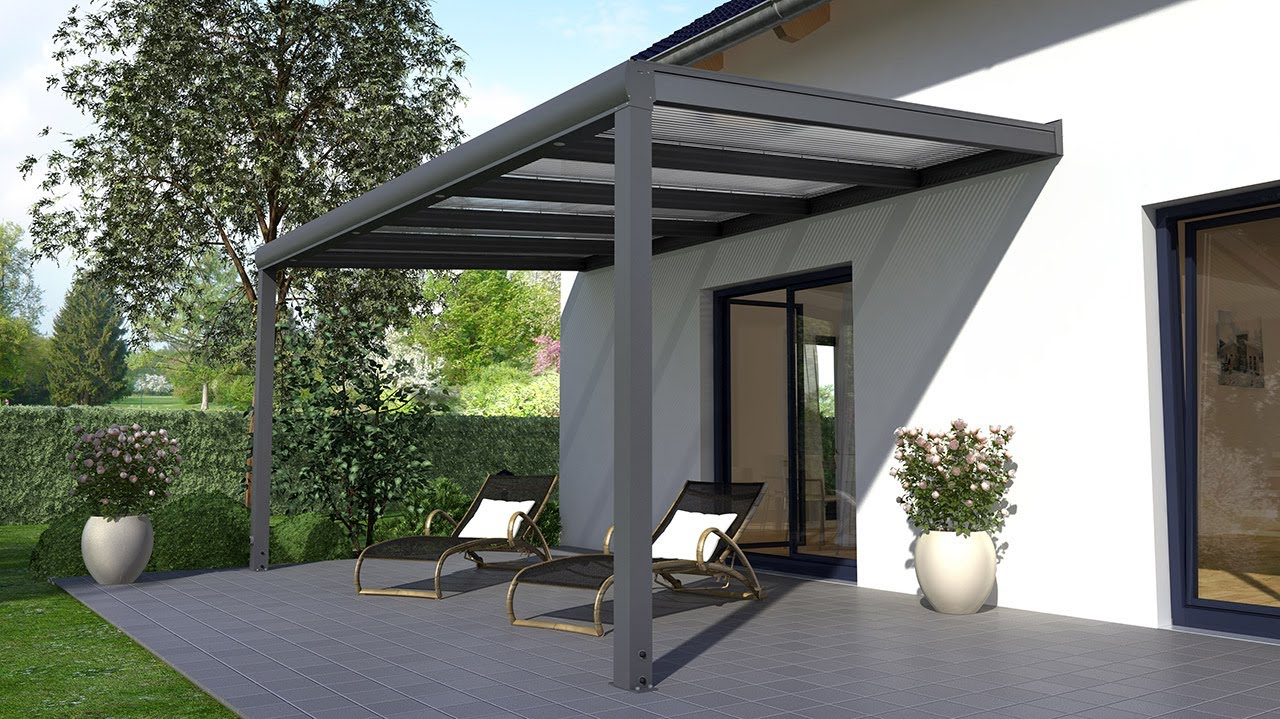 aufbauanleitung alu terrassen berdachung rexopremium youtube. Black Bedroom Furniture Sets. Home Design Ideas