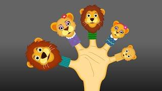 The Finger Family Lion Family Nursery Rhyme | Lion Finger Family Songs