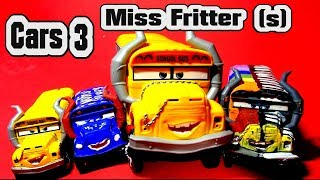 Pixar Cars 3 Miss Fritter with Fabulous Miss Fritter Play Doh Miss Fritter  Rainbow Miss fritter