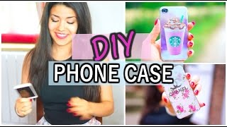 DIY PHONE CASE (Chanel, Starbucks, and more...)