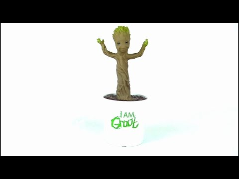 GUARDIANS OF THE GALAXY Electronic Dancing Groot Toy Review | Votesaxo...