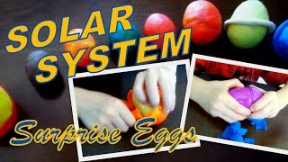 PLAYDOH SURPRISE EGGS -- Learning The Solar System || jCloudTV