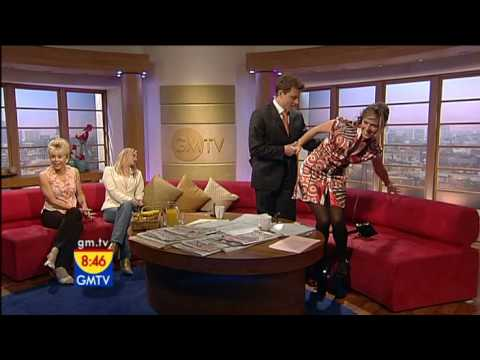 Kate Garraway in black semi opaque tights 1 Video