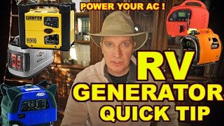 👏IMPORTANT TIP: How to Power an RV AIR-CONDITIONER with a Generator