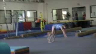5 year old Kaylee round off with four back handspring level 4 gymnast