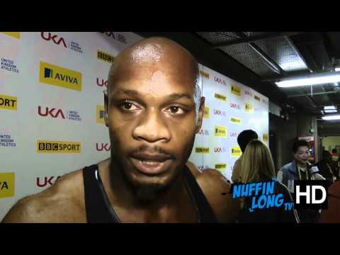 Nuffin'Long TV (Aviva Indoor GP Birmingham) - Post Race Interview with Asafa Powell (HD)