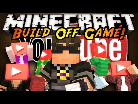 Minecraft Build Off : YOUTUBERS!
