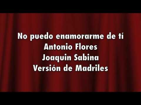 Antonio Flores - Karaoke - Antonio Flores - no puedo enamorarme de ti