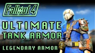 Fallout 4 | Ultimate Tank Armor! Take Almost NO Damage! (Legendary Armor Testing!)