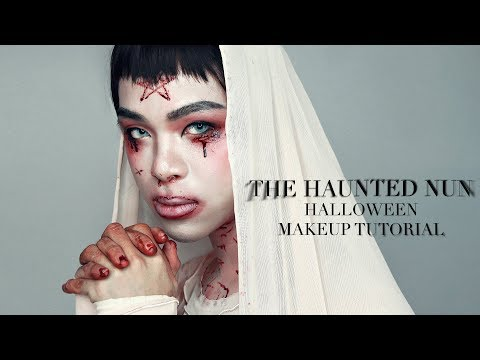 🎃 The Haunted Nun 🎃 HALLOWEEN MAKEUP TUTORIAL by Phát Phát | GIVEAWAY 🎁 thumbnail