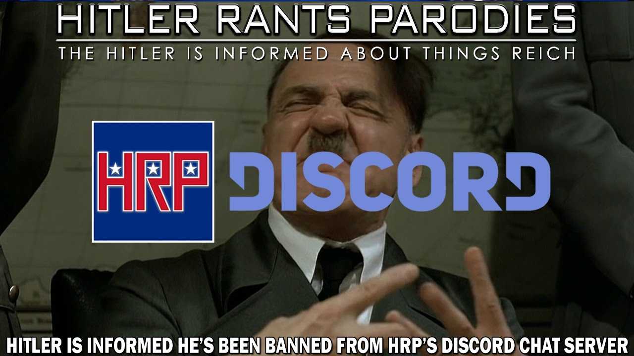 Hitler is informed he's been banned from HRP's Discord chat server