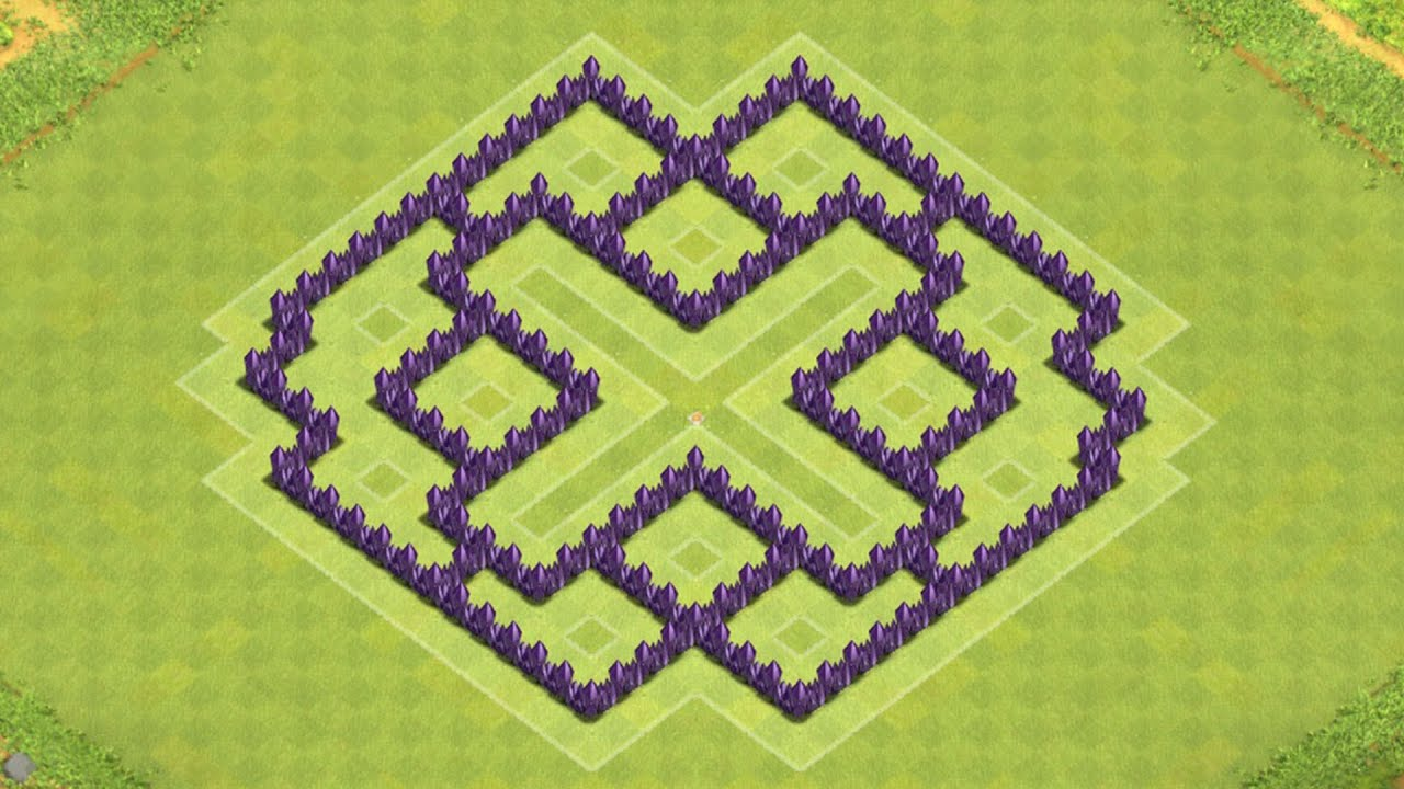 Defense coc th7 best farming base layout defense strategy youtube