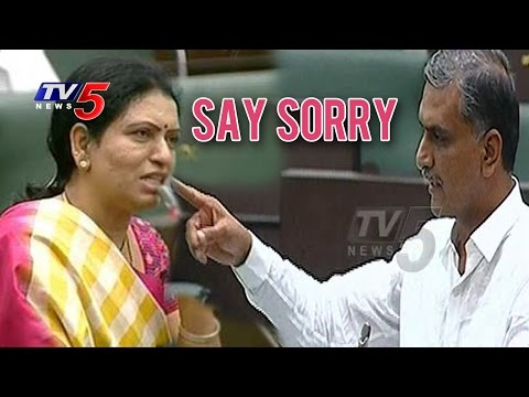 Harish Rao Demands DK Aruna to Say Sorry | TV5 News