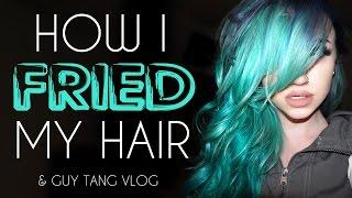 How I fried my hair & Guy Tang vlog