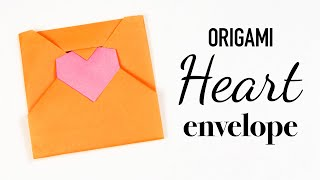 Origami Heart Envelope Tutorial 💌 DIY 💌 Love Letter 💌