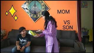 Mom vs Son||funny video By KalakaarFilms||