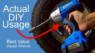 Kobalt Impact Wrench Everyday DIY Use Examples Working on Jeep Wheels Rusty Axle Nuts and Bolts LED