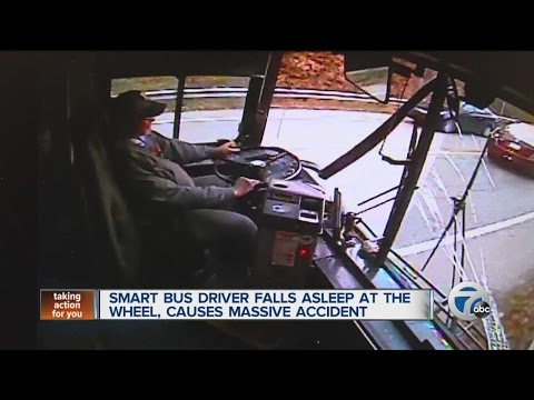 SMART bus driver falls asleep at the wheel, causes massive accident