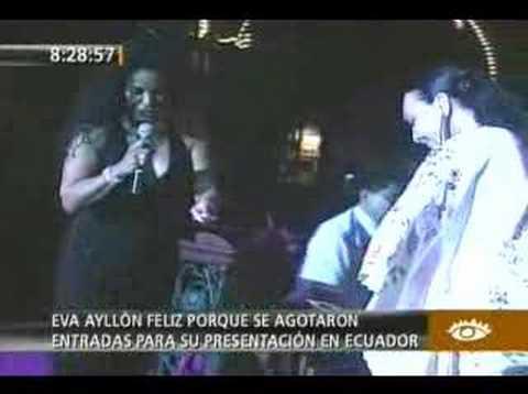 Eva Ayllon en Ecuador (Peru Media)
