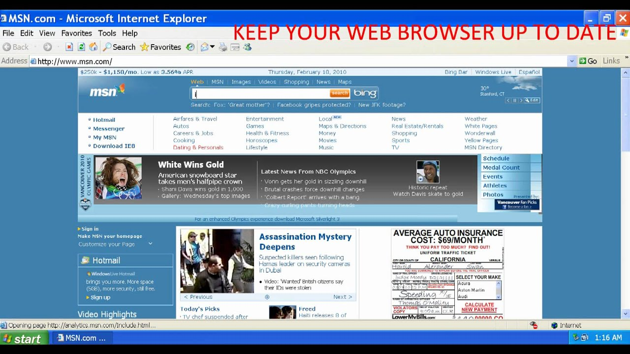 Windows home server (a derivative of windows server 2 ie6 sp1 is the last version of internet explorer available for