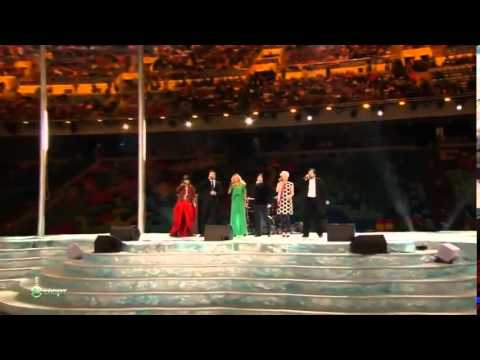 Шарип Умханов на открытии Олимпиады