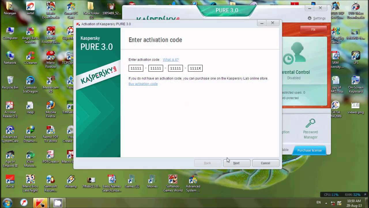 kaspersky 2014 activation code crack
